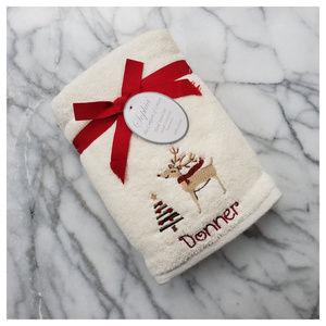Sophia Reindeer Holiday Hand Towels Set of 2